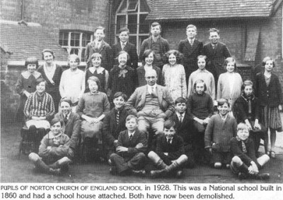 37 Pupils Of Norton C Of E School 1928