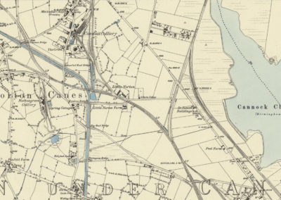 61 Norton Canes Canal Map